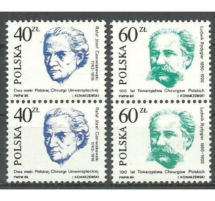 Znaczek Polska 1989 Mi 3221-3222 Fi 3073-3074 Czyste **