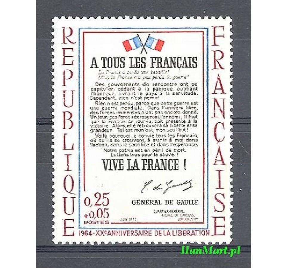 Francja 1964 Mi 1484 Czyste **