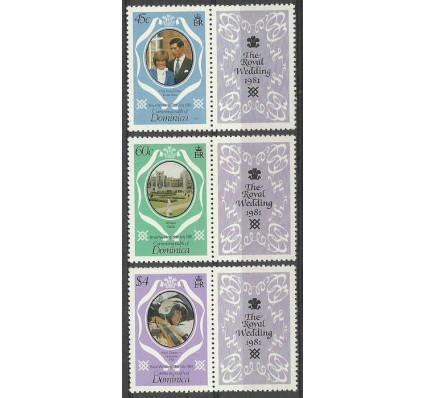 Znaczek Dominika 1981 Mi zf 713-715C Czyste **