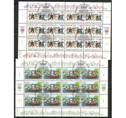 Znaczek Narody Zjednoczone Genewa 1987 Mi ark 158-159 Stemplowane