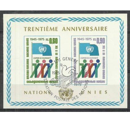 Znaczek Narody Zjednoczone Genewa 1975 Mi bl 1 Stemplowane