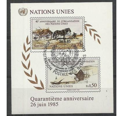Znaczek Narody Zjednoczone Genewa 1985 Mi bl 3 Stemplowane