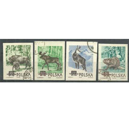 Znaczek Polska 1954 Mi 885-888B Fi 743-746A Stemplowane