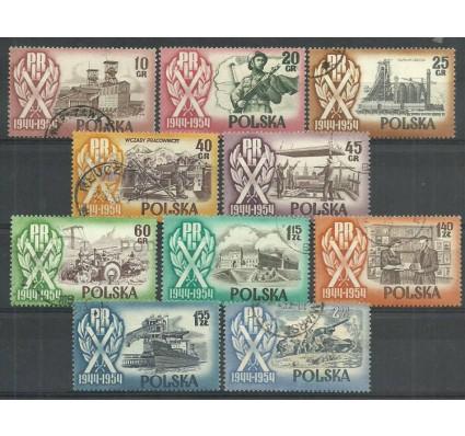 Znaczek Polska 1954 Mi 889-896 Fi 747-756+749I Stemplowane
