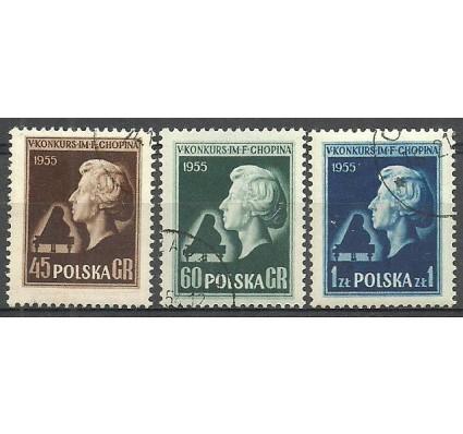 Znaczek Polska 1954 Mi 879-881A Fi 737-739 Stemplowane