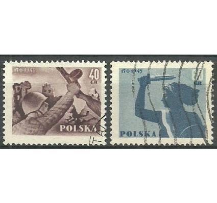 Znaczek Polska 1955 Mi 897-898A Fi 757-758 Stemplowane
