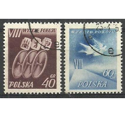 Znaczek Polska 1955 Mi 905-906 Fi 771-772 Stemplowane