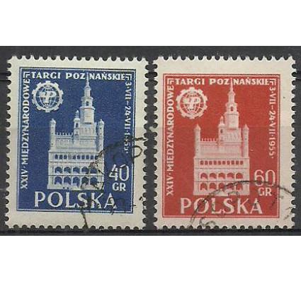 Znaczek Polska 1955 Mi 915-916 Fi 773-774 Stemplowane