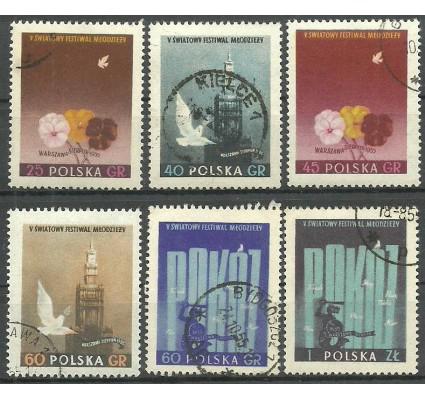 Znaczek Polska 1955 Mi 922-927 Fi 778-783B Stemplowane