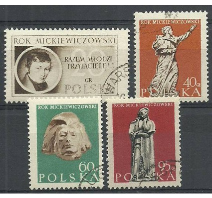 Znaczek Polska 1955 Mi 948-951 Fi 804-807 Stemplowane