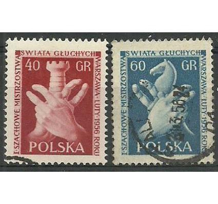 Znaczek Polska 1956 Mi 954-955A Fi 810-811 Stemplowane