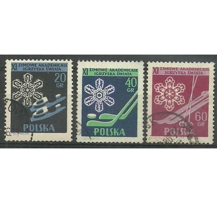 Znaczek Polska 1956 Mi 956+958A+957C Fi 812-814 Stemplowane