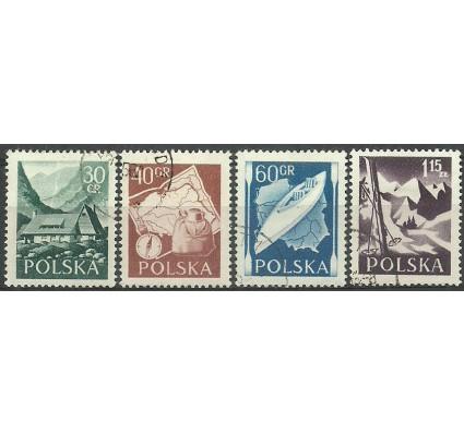 Znaczek Polska 1956 Mi 966-969A Fi 822-825 Stemplowane