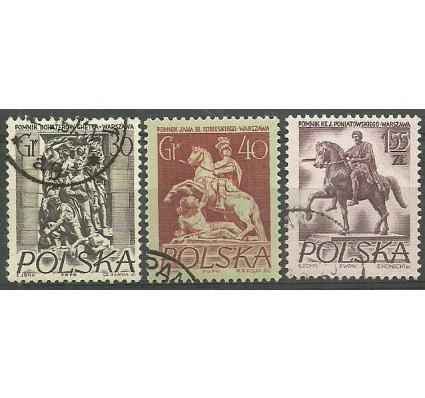 Znaczek Polska 1956 Mi 974-976A Fi 830-832 Stemplowane
