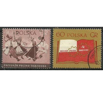 Znaczek Polska 1956 Mi 977-978A Fi 833-834 Stemplowane