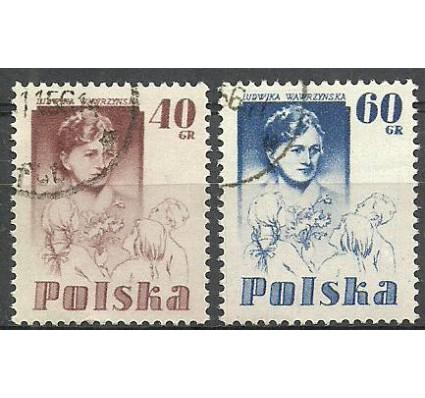 Znaczek Polska 1956 Mi 979-980 Fi 835-836 Stemplowane