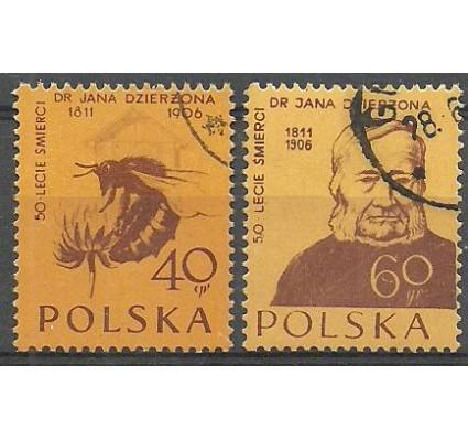 Znaczek Polska 1956 Mi 982-983A Fi 841-842 Stemplowane