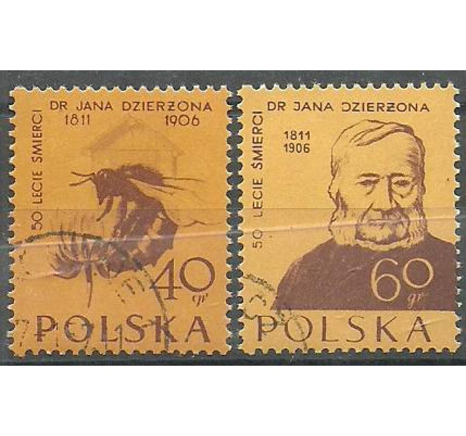 Polska 1956 Mi 982-983A Fi 841-842 Stemplowane