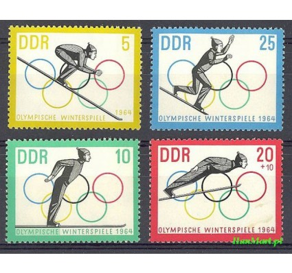 Znaczek NRD / DDR 1963 Mi 1000-1003 Czyste **