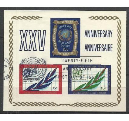 Znaczek Narody Zjednoczone Nowy Jork 1970 Mi bl 5 Stemplowane