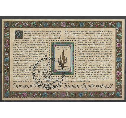 Znaczek Narody Zjednoczone Nowy Jork 1988 Mi bl 10 Stemplowane