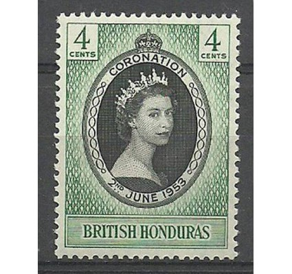 Znaczek Honduras Brytyjski 1953 Mi 140 Czyste **