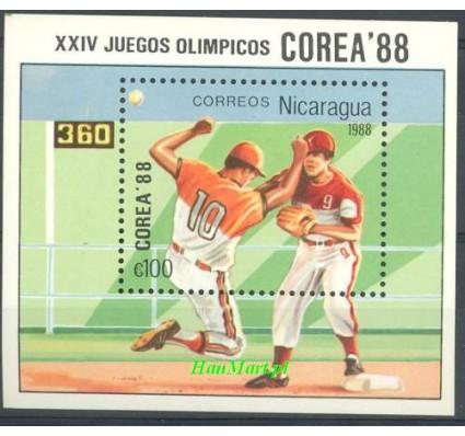 Znaczek Nikaragua 1988 Mi bl 177 Czyste **