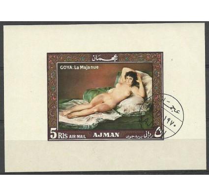 Znaczek Ajman / Adżman 1969 Mi bl B35 Stemplowane