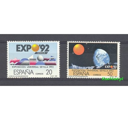 Hiszpania 1987 Mi 2808-2809 Czyste **