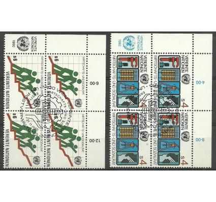 Znaczek Narody Zjednoczone Wiedeń 1980 Mi 14-15 Stemplowane