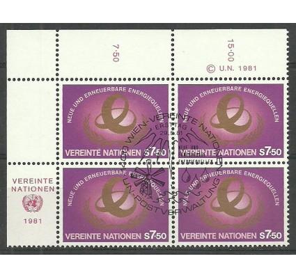 Znaczek Narody Zjednoczone Wiedeń 1981 Mi 20 Stemplowane