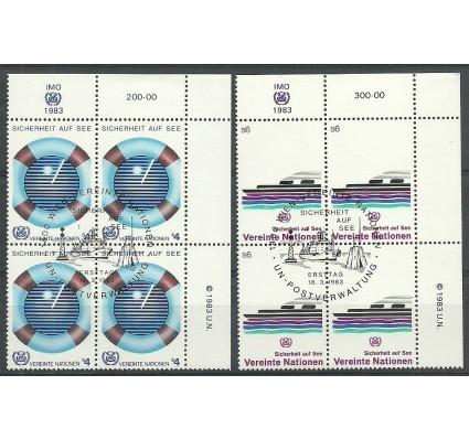 Znaczek Narody Zjednoczone Wiedeń 1983 Mi 30-31 Stemplowane