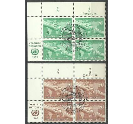 Znaczek Narody Zjednoczone Wiedeń 1983 Mi 32-33 Stemplowane