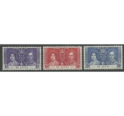 Znaczek Saint Lucia 1937 Mi 96-98 Czyste **