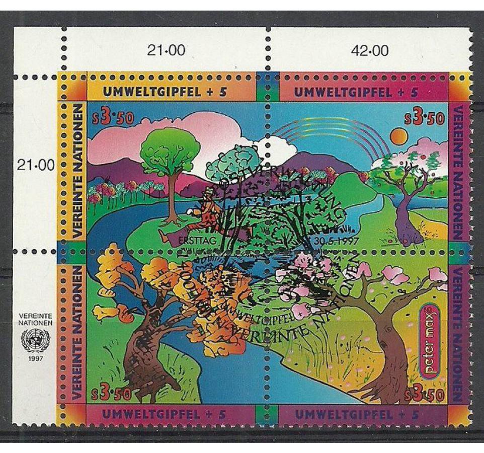 Narody Zjednoczone Wiedeń 1997 Mi 226-229 Stemplowane