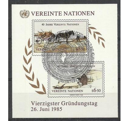 Znaczek Narody Zjednoczone Wiedeń 1985 Mi bl 2 Stemplowane