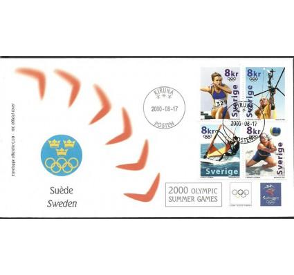 Znaczek Szwecja 2000 Mi 2182-2185 FDC