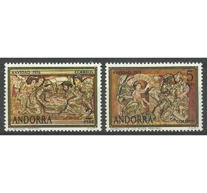 Znaczek Andora Hiszpańska 1974 Mi 93-94 Czyste **