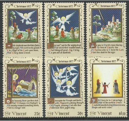 Znaczek St. Vincent 1977 Mi 488-493 Czyste **