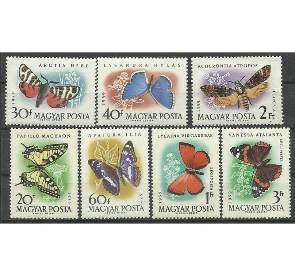 Węgry 1959 Mi 1633-1639 Czyste **