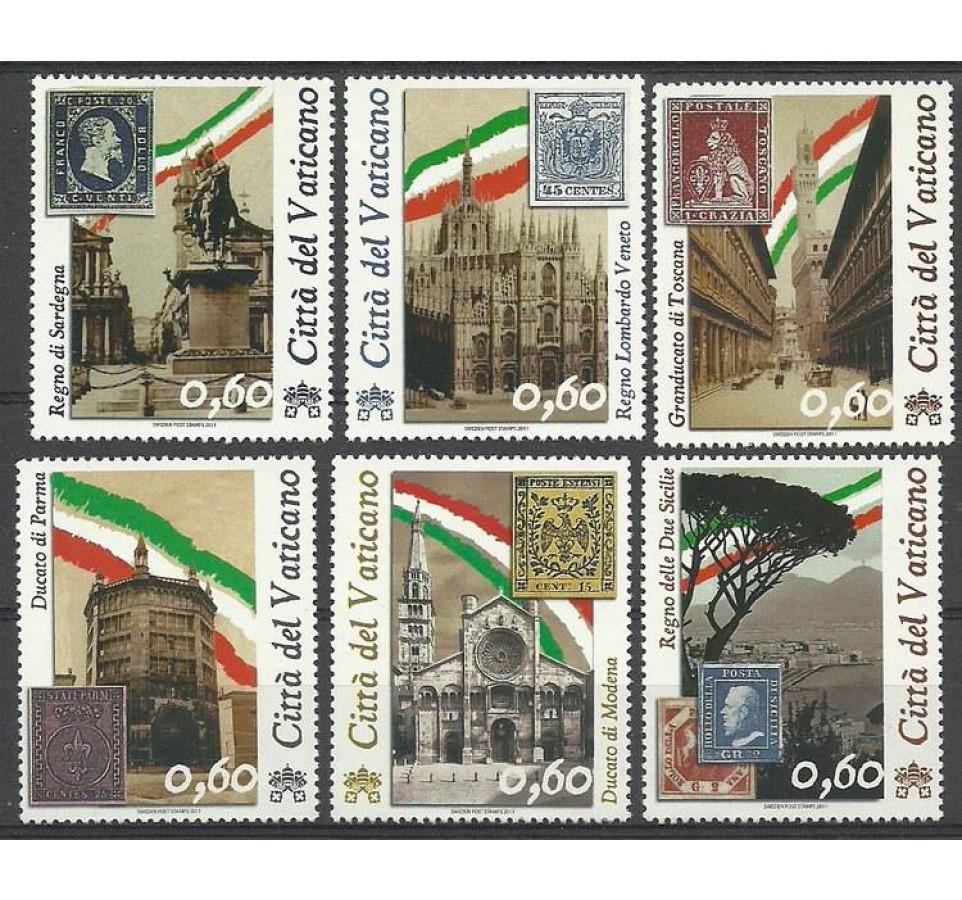 Watykan 2011 Mi 1690-1695 Czyste **