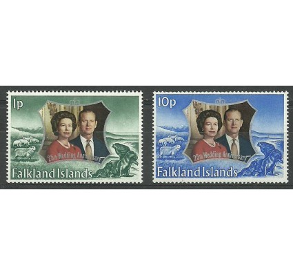 Znaczek Falklandy 1972 Mi 218-219 Czyste **
