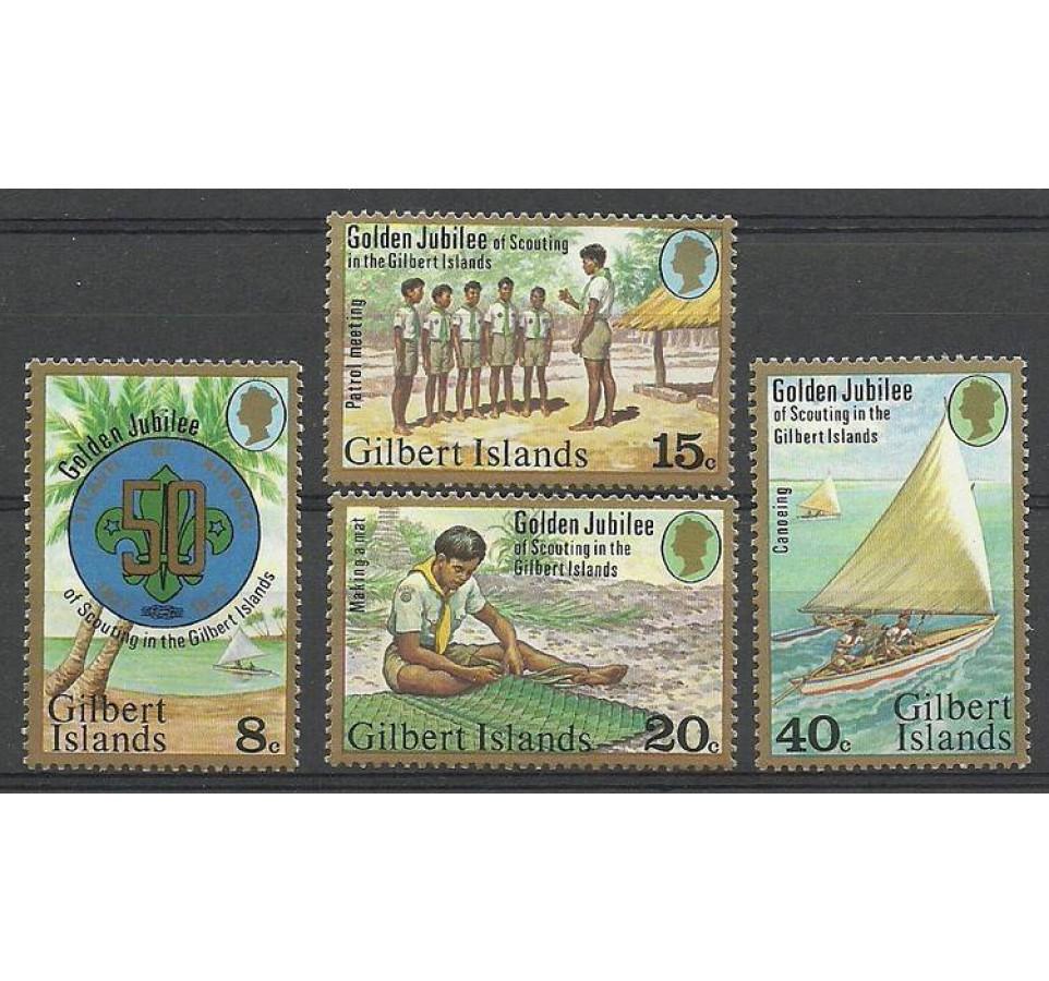Gilbert Islands 1977 Mi 299-302 Czyste **