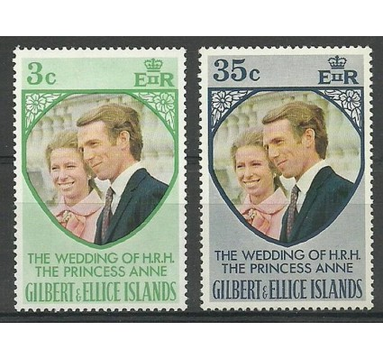 Znaczek Gilbert Ellice Islands 1973 Mi 211-212 Czyste **