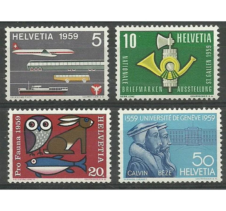 Szwajcaria 1959 Mi 668-671 Czyste **