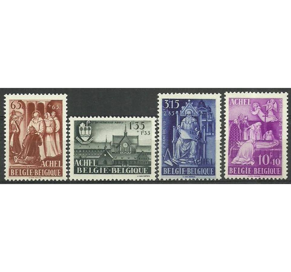 Belgia 1948 Mi 816-819 Czyste **