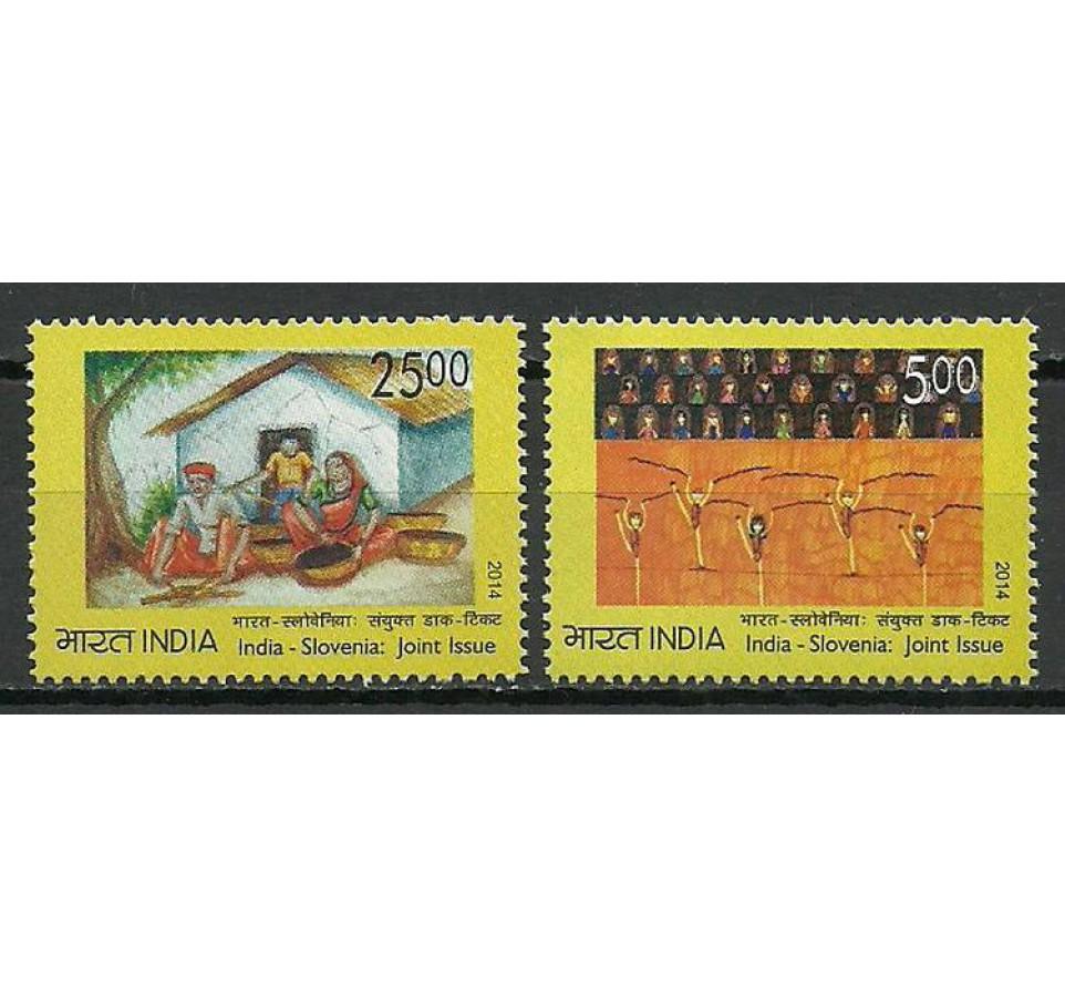 Indie 2014 Mi 2851-2852 Czyste **