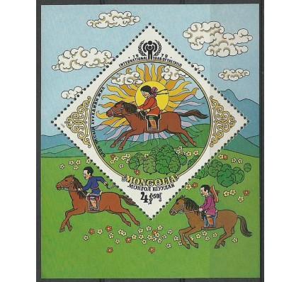 Znaczek Mongolia 1979 Mi bl 57 Czyste **