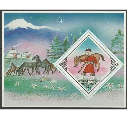 Znaczek Mongolia 1983 Mi bl 91 Czyste **