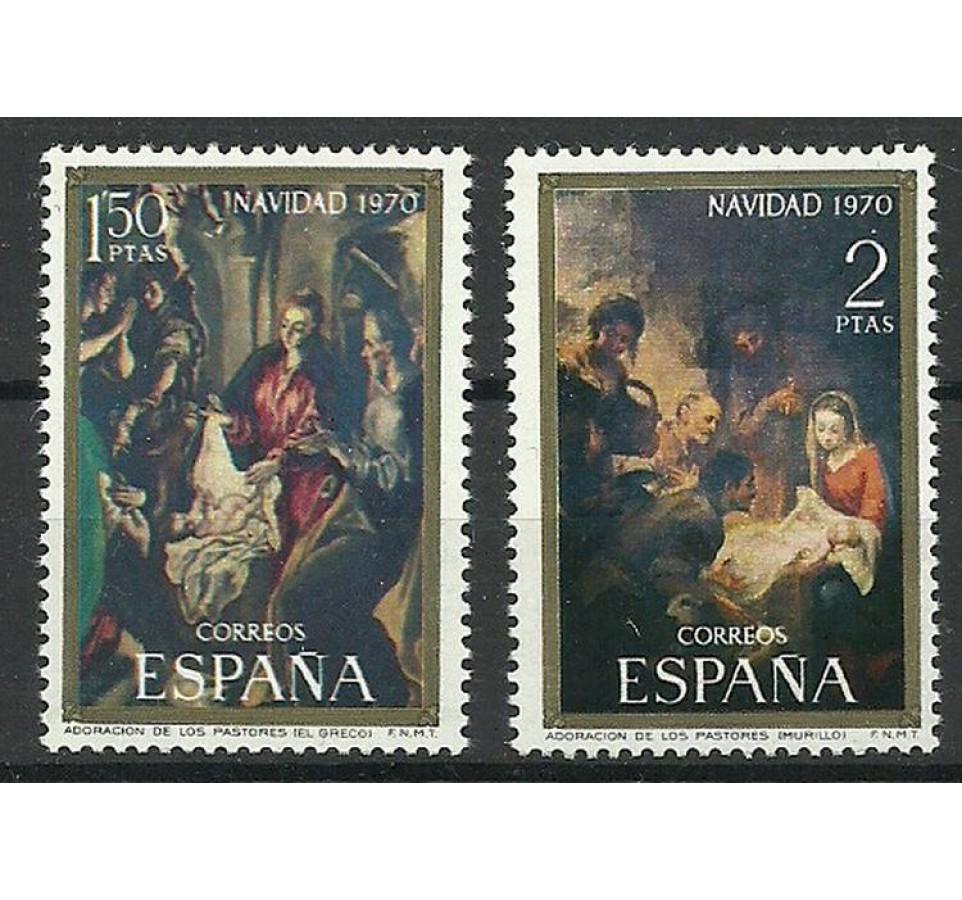 Hiszpania 1970 Mi 1895-1896 Czyste **